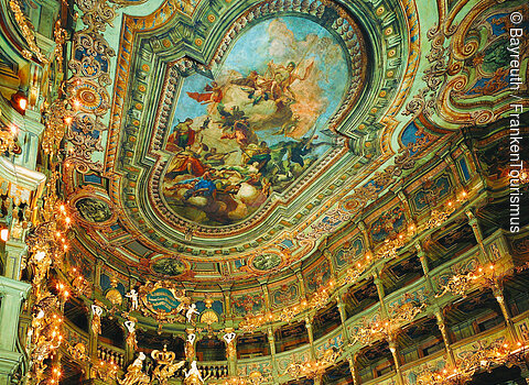 The Seating Area of the Margravial Opera House in Bayreuth