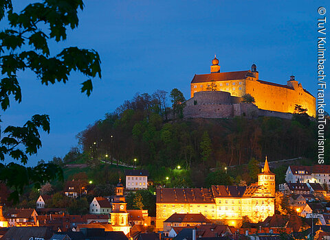 Nighttime View of the Plassenburg Fortress in Kulmbach