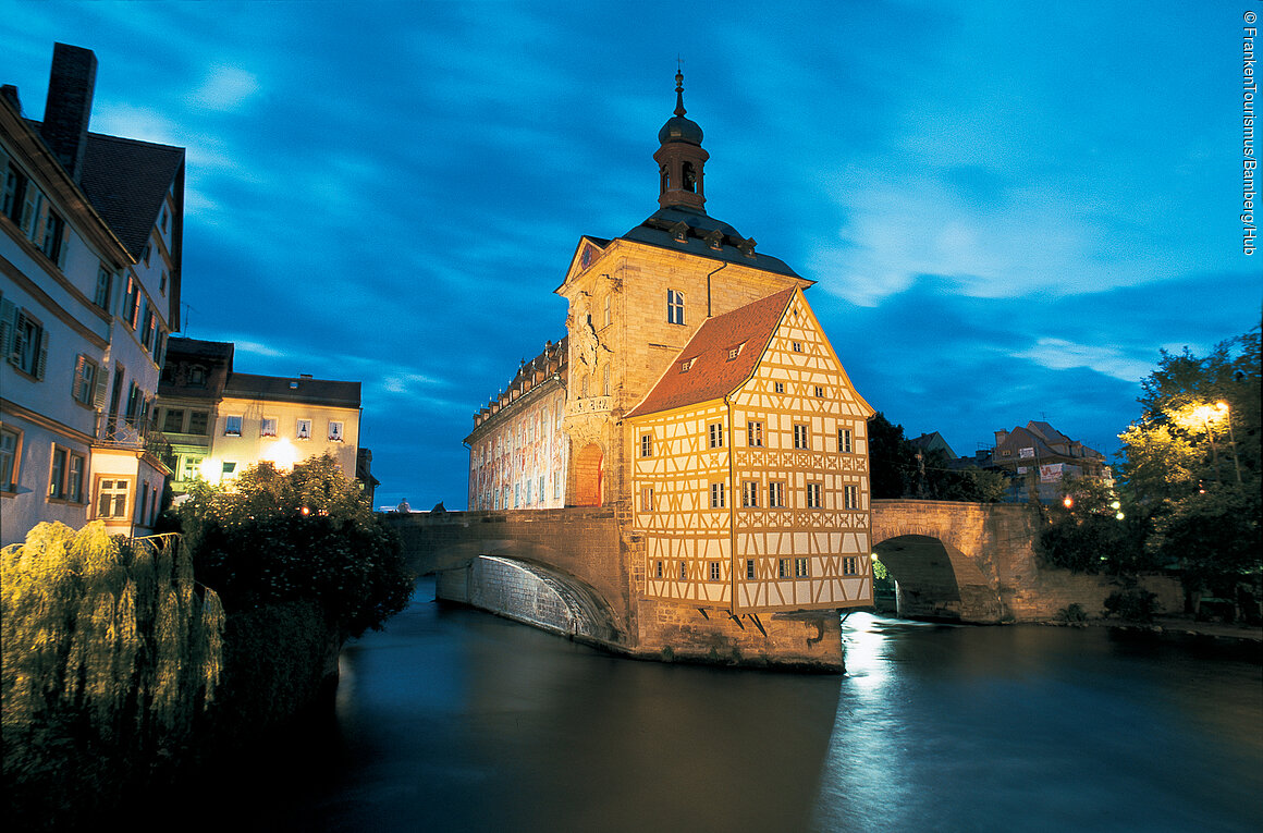 The Old Town Hall on the Bridge in Bamberg